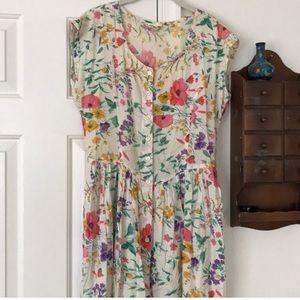 Floral Button Down Vintage Dress